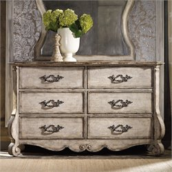 Hooker Chatelet 6 Drawer Dresser in Distressed Vintage White