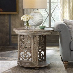 Hooker Chatelet Round Accent Table in Caramel Froth