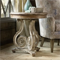 Hooker Chatelet Scroll Accent Table in Caramel Froth