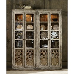 Hooker Chatelet 2 Door Bunching Curio Cabinet in Caramel Froth