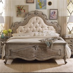 Hooker Chatelet Upholstered King Panel Bed in Beige