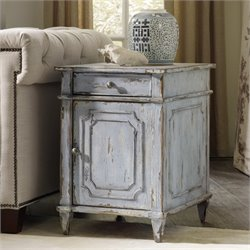 Hooker Chatelet Chairside End Table in Light Blue