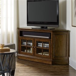 Hooker Brantley 2 Door Corner TV Stand in Dark Wood