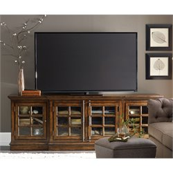 Hooker Brantley 4 Door TV Stand in Dark Wood