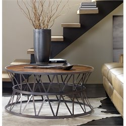 Hooker Chadwick Round Coffee Table in Brown