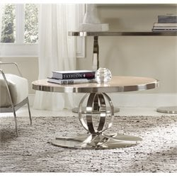 Hooker East Village Round Coffee Table in Silver