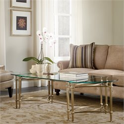 Hooker Highland Park Glass Top Coffee Table in Gold