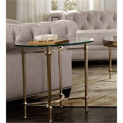 Hooker Highland Park Glass Top End Table in Gold