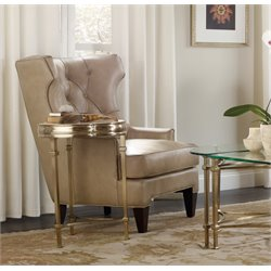 Hooker Highland Park Chairside Martini Table in Gold