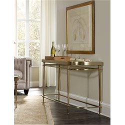 Hooker Highland Park Glass Top Console Table in Gold