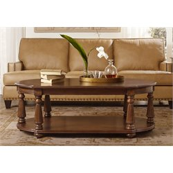 Hooker Leesburg Oval Coffee Table in Mahogany
