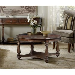 Hooker Leesburg Round Coffee Table in Mahogany