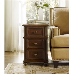 Hooker Leesburg Chairside End Table in Mahogany