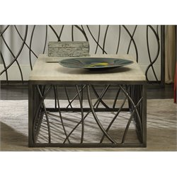 Hooker Metal Coffee Table in Cream