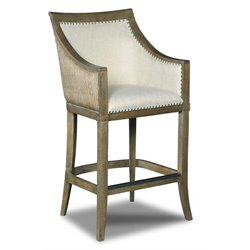 Hooker Sea Breeze Tropical Stool in Light Wood