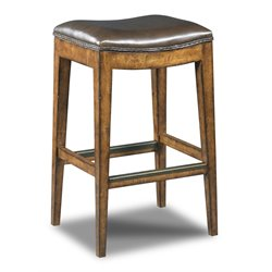 Hooker Sangria Rec Backless Stool in Medium Wood