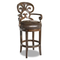 Hooker Jameson Traditional Stool in Mahogany