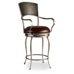 Hooker Zinfandal Stool in Chrome