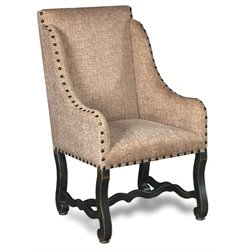 Hooker Churchill Sand Upholstered Dining Arm Chair in Ebony