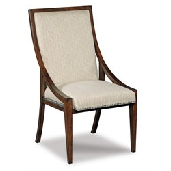 Hooker Upholstered Dining Side Chair in Dark Wood