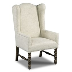 Hooker Upholstered Dining Chair in Dark Wood-A