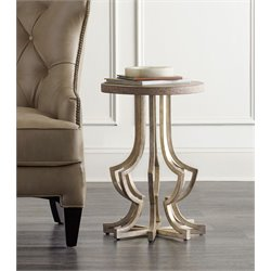 Hooker Metal Accent Table in Gold