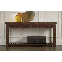 Hooker Console Table in Brown