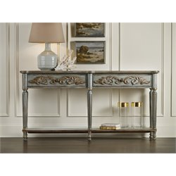 Hooker Gilded Console Tabe in Gray