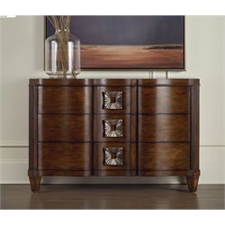 Hooker Serpentine Accent Chest in Dark Wood