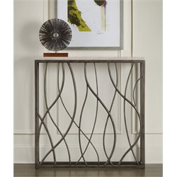 Hooker Thin Metal Console Table in Cream