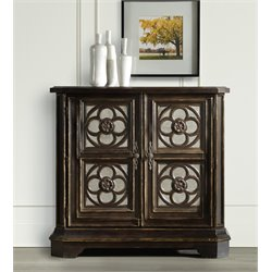 Hooker Small Quatrefoil Accent Chest in Black