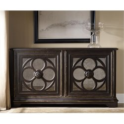 Hooker Large Quatrefoil Accent Chest in Black