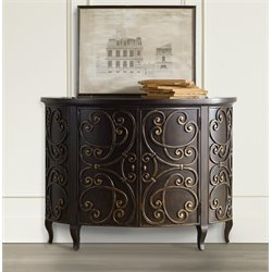 Hooker Demilune Accent Chest in Black