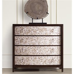 Hooker Mother of Pearl Accent Chest in Dark Wood