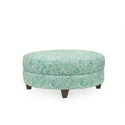 Hooker Furniture Bellemy Ottoman in Aquamarine