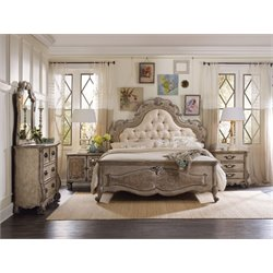 Hooker Chatelet 3 Piece King Upholstered Panel Bedroom Set