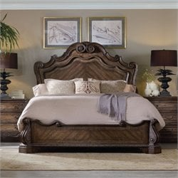 Hooker Furniture Rhapsody 3 Piece Panel Bed Set in Rustic Walnut