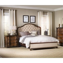 Hooker Leesburg 3 Piece Queen Upholstered Bedroom Set in Mahogany
