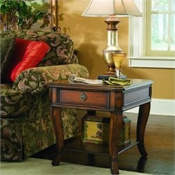 Hooker Furniture Brookhaven Wood Top End Table in Clear Cherry