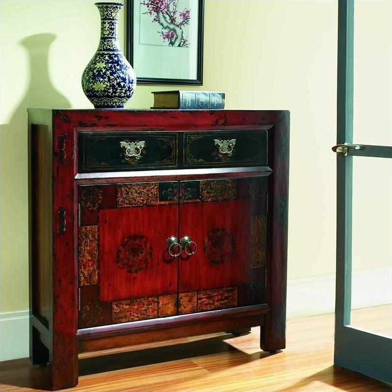 Hooker Furniture Seven Seas Asian Two Door Drawer Hall Accent Chest