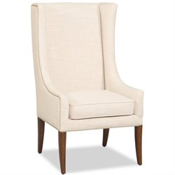 Hooker Furniture Preston Ridge Fabric Accent Arm Chair in White