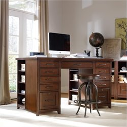Hooker Furniture Wendover Utility Desk with 2 Drawer Pedastals