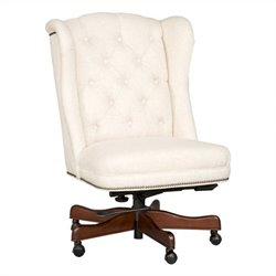 Hooker Furniture Seven Seas Tufted Executive Office Chair in Chateau Linen