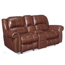 Hooker Furniture Seven Seas Leather Reclining Sofa with Console