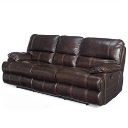 Hooker Furniture Seven Seas Leather Reclining Sofa in Espresso