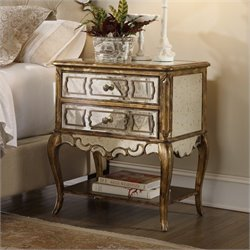 Hooker Furniture Sanctuary Mirrored Leg Nightstand in Bling
