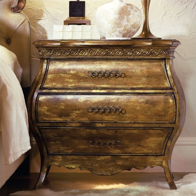 Hooker Furniture Sanctuary Small Bombe Nightstand in Bling