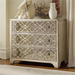 Hooker Furniture Sanctuary Fretwork Accent Chest in Pearl Essence