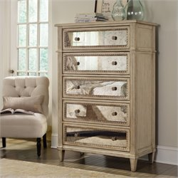 Hooker Furniture Sanctuary Five Drawer Chest in Pearl Essence