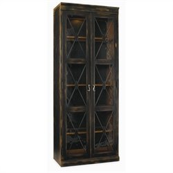 Hooker Furniture Sanctuary Two Door Thin Display Cabinet in Ebony